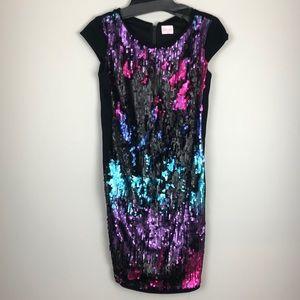 Zoe LTD flip sequin dress